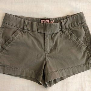 Juicy Couture Military Green Shorts Size 6